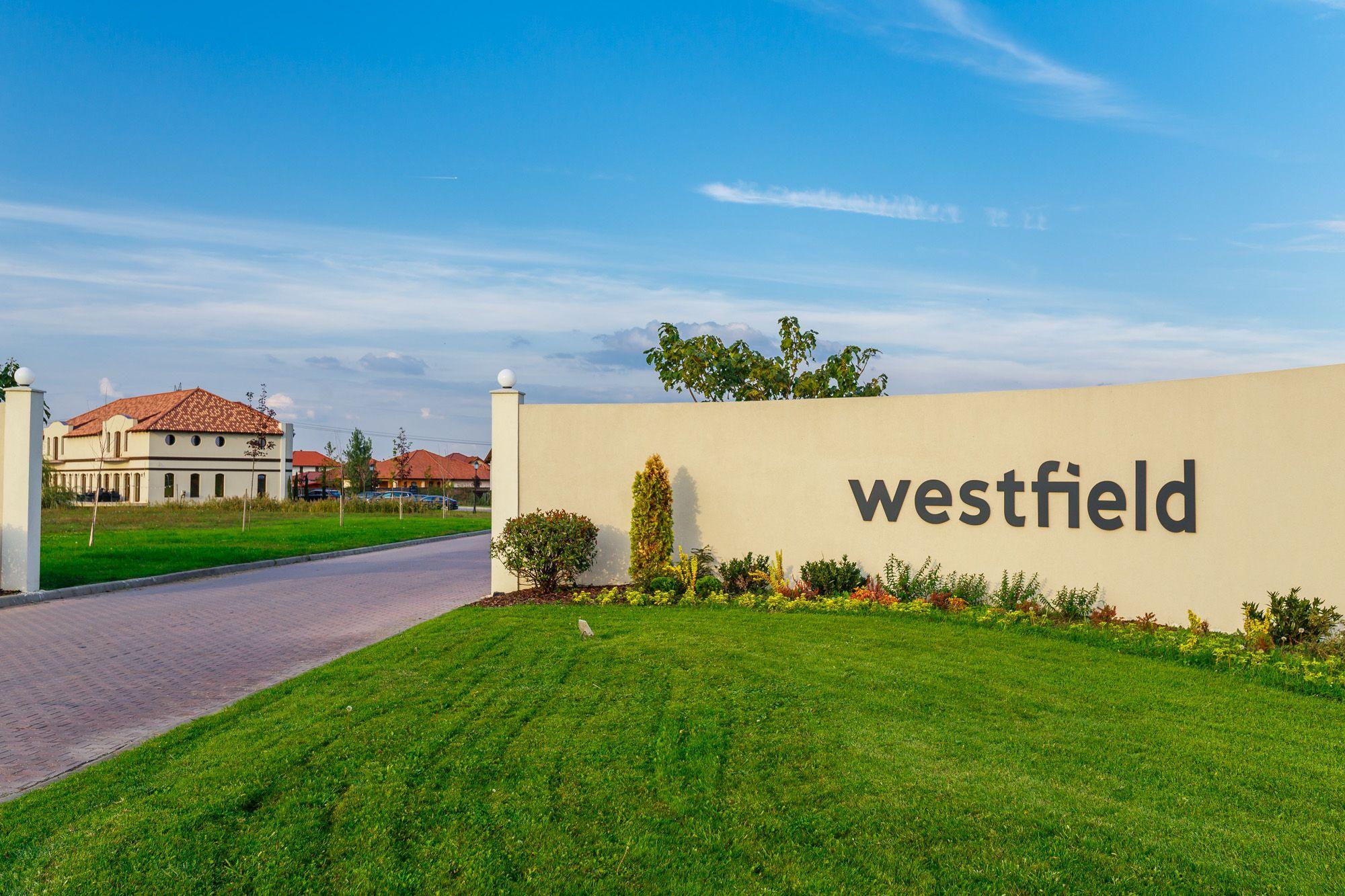 Drumul de acces în cartierului Westfield și