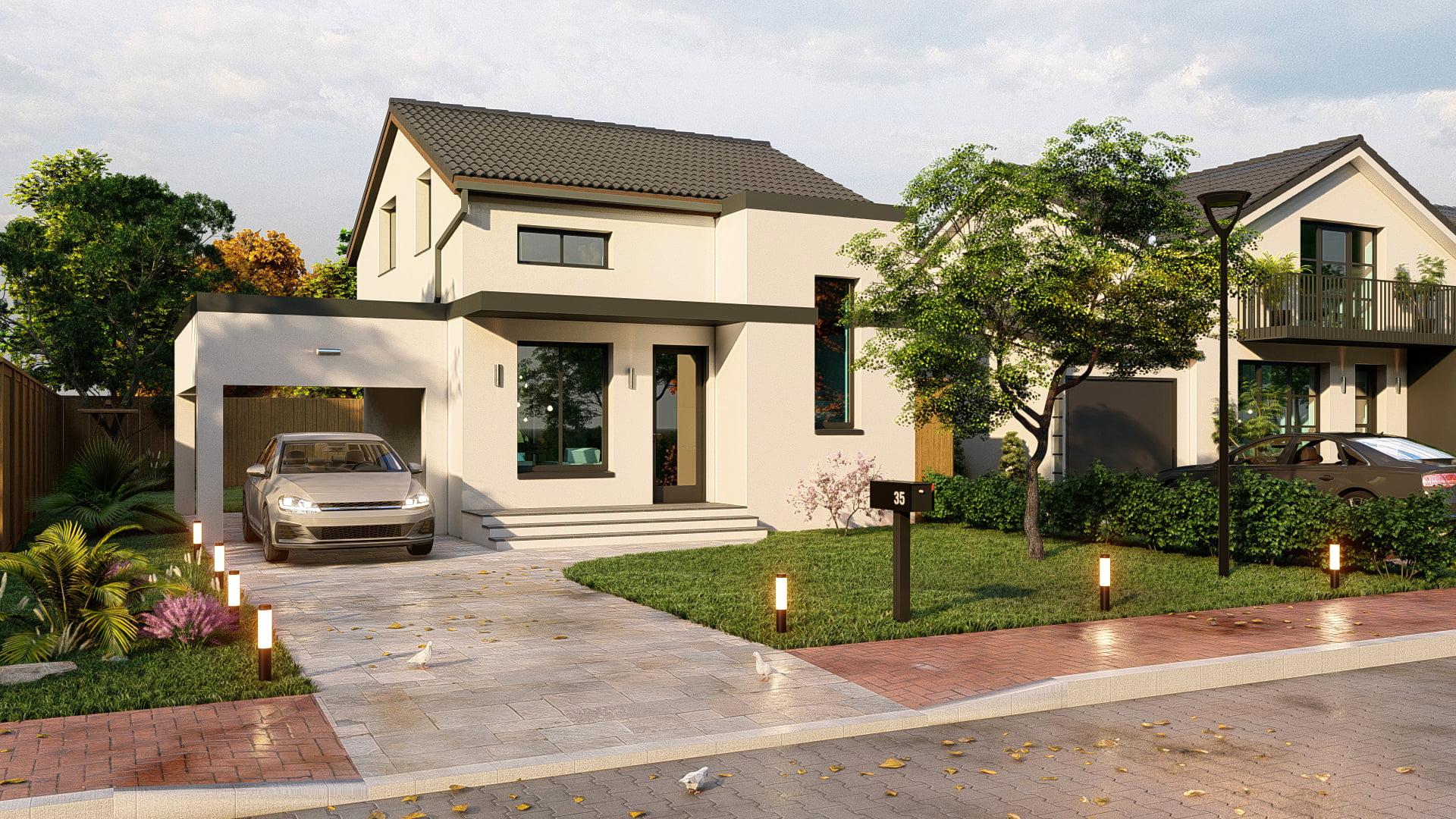 Fațada casei Smart din Westfield Arad
